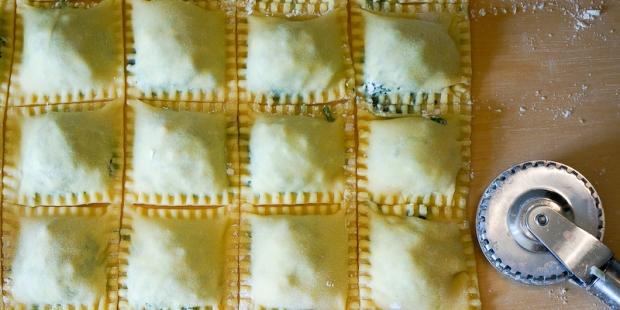 ildkräuter-Ravioli