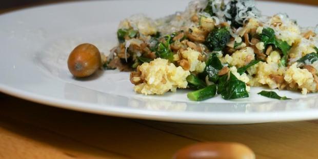 Eichelgemüse mit Brokkoli und Hirse