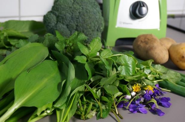 Zutaten für Gemüse mit Wildkräutersauce