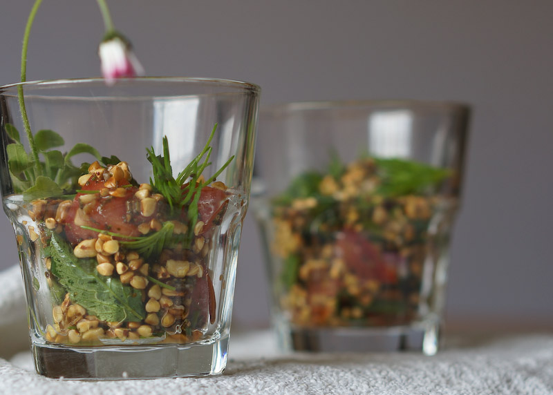 Buchweizensalat mit Fichtenspitzen