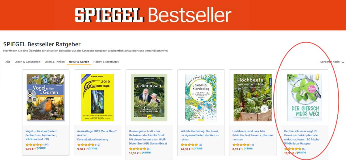 """Mein Buch """"Der Giersch muss weg!"""" als Rezensionsexemplar gewinnen"""